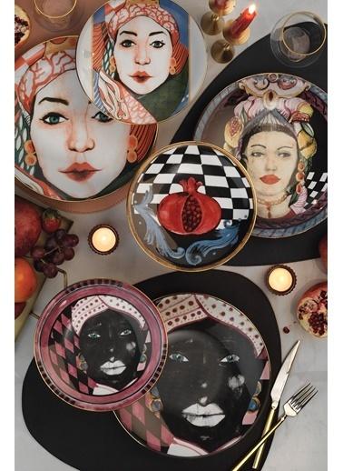 Kütahya Porselen Sophia Femina Renkli Servis Takımı Renkli